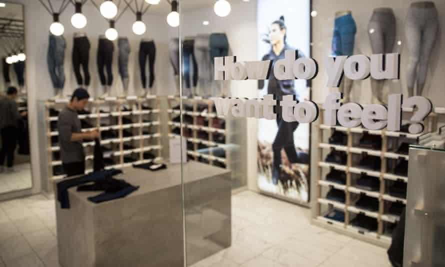 The Lululemon store in Regent St, London