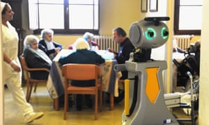 Robot-Era is on hand for any daily activities at the care home.