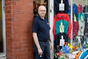 Alec Gourlay stands outside his shop as he prepares for next week.