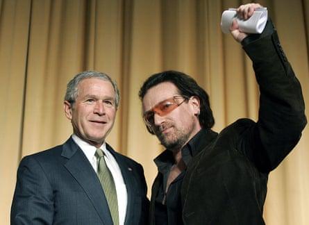 George W. Bush and Bono pictured in 2006.