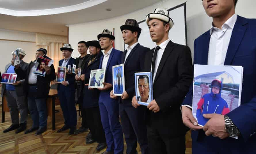 Citizens of ex-Soviet Kyrgyzstan who fear relatives are being held in re-education camps in China's Xinjiang region appeal to the country's China-dependent government for help in freeing them.