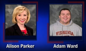 Alison Parker and Adam Ward are pictured in this handout photo from TV station WDBJ7 obtained by Reuters August 26, 2015