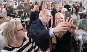 Boris Johnson campaigning in Derbyshire.