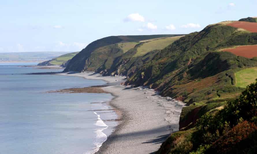 The coastline at Peppercombe in North Devon
