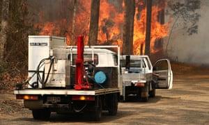 Firefighters in Busbys Flat