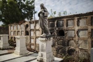 Maracaibo, Venezuela Pillaged vaults in the Cuadrado cemetery