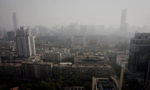 A smog ridden day in the city of Guangzhou, China.