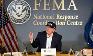 US president Donald Trump speaks during a Federal Emergency Management Agency (FEMA) briefing on hurricane Dorian in Washington.