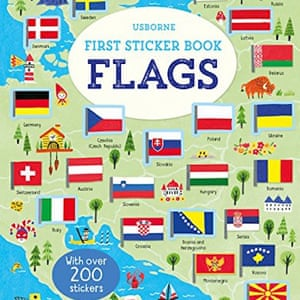 Usborne First Sticker Book Flags