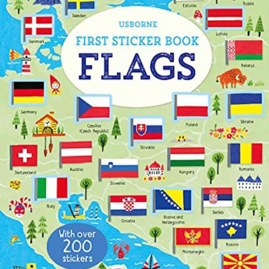 Usborne First Sticker Book Flags