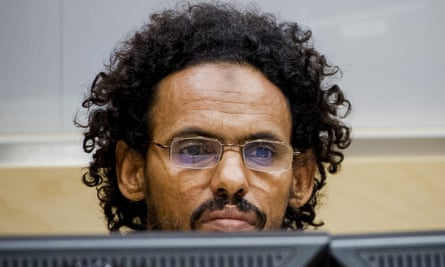 Ahmad al-Faqi al-Mahdi in the courtroom of the International Criminal Court in The Hague.