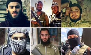 Composite of British jihadis killed in Syria and Iraq for ISIS facewall