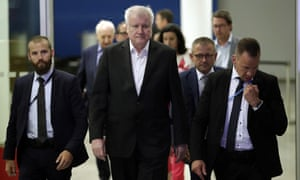 The German interior minister and chairman of the German Christian Social Union (CDU), Horst Seehofer