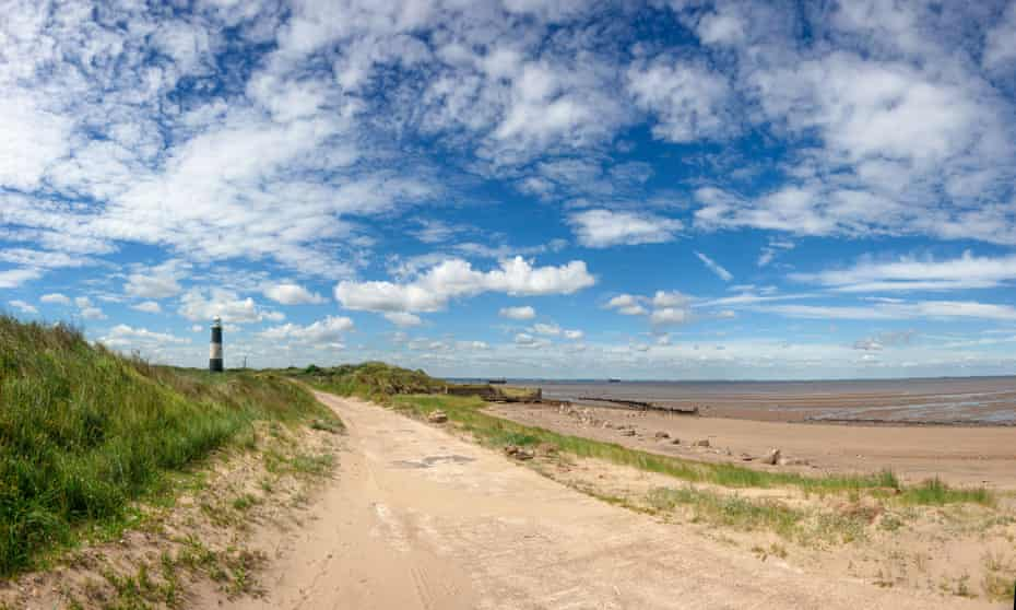 Spurn Point and its lighthouse.