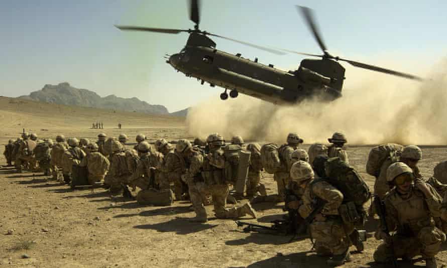 Royal Marine commandos in Afghanistan in 2009