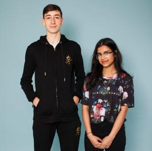 Students Aaron O'Sullivan Riordan and Kadeja Tasnim