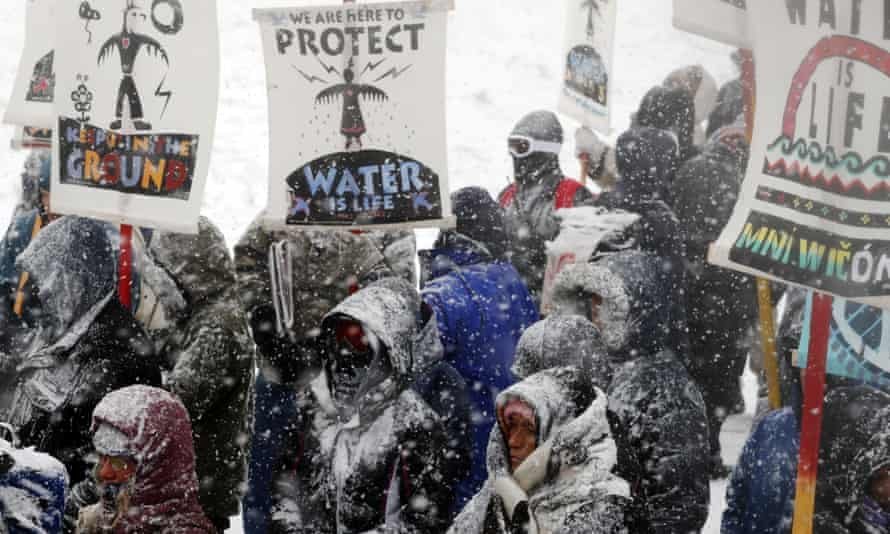 Two days of blizzard dumped a fresh blanket of snow at Standing Rock.