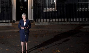 Theresa May speaking outside Number 10