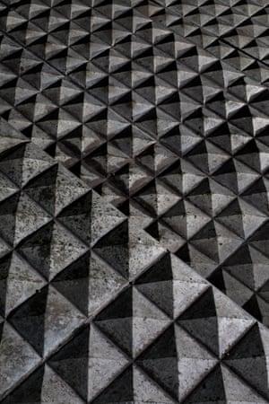 Floor surface on the top three steps below the Millennium Bridge, London