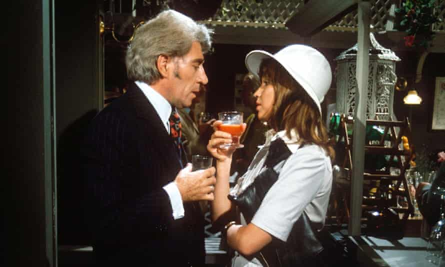 Frank Finlay and Susan Penhaligon in Bouquet of Barbed Wire, 1976, a drama of daring darkness.