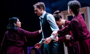 L to R, Maryam Hamidi, Tim Barrow, Anna Russell-Martin and Molly Vevers in Nora: A Doll's House.