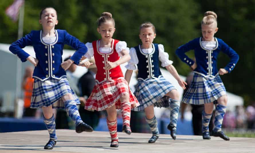 Children at Aberdeen's Highland Games.