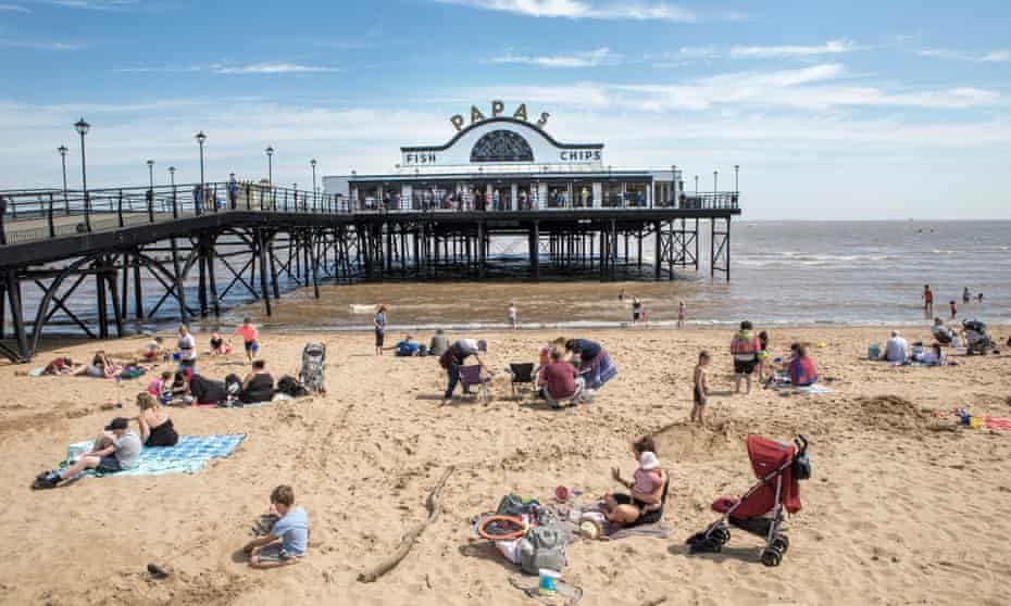 The pier at Cleethorpes, Lincolnshire.