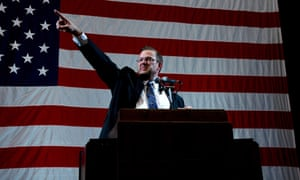 James Thompson speaks at the Kansas Democratic Party's state convention in Topeka, in February.
