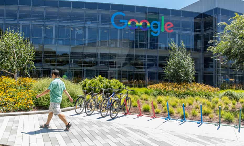 Google headquarters in Mountain View, California. The new lawsuit claims Google is violating labor laws by paying women less than men for 'substantially similar work'.