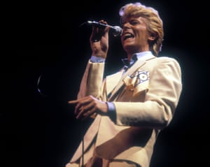 Bowie on the Serious Moonlight tour in 1983.