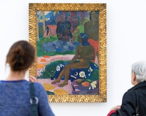 "Paul Gauguin's Vairaumati te ioa (""her name is Vairaumati"", 1892) displayed in the Fondation Beyeler in Riehen, Switzerland"