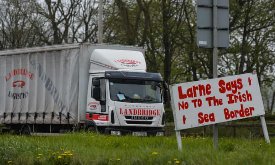 A roadside sign in Larne, County Antrim