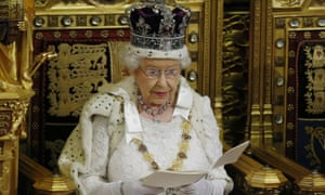The Queen delivering the Queen's speech to the House of Lords