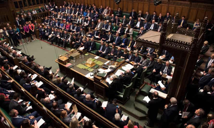 MPs in the Commons during the day of debate on indicative votes