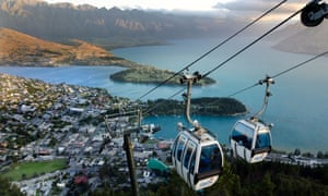 Skyline Gondola Cable Car in Queenstown, New Zealand. Australian trade Minister Simon Birmingham hopes a travel bubble between Australia and New Zealand can be put in place by the end of the year.