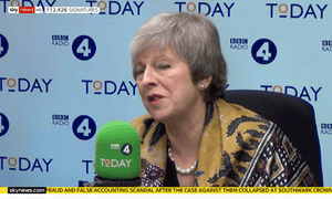 Theresa May on the Today programme