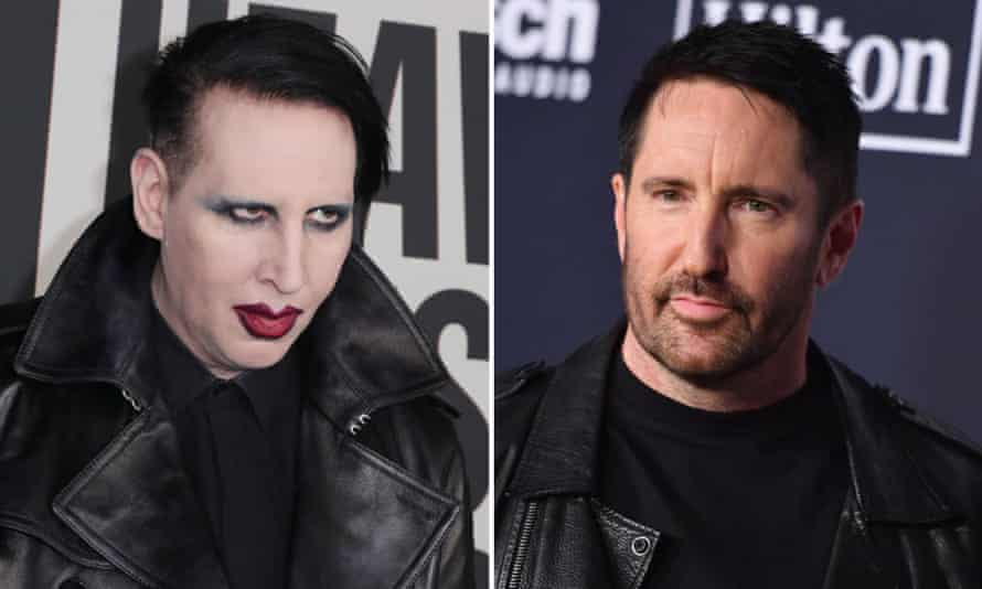 Marilyn Manson, left, and Trent Reznor.