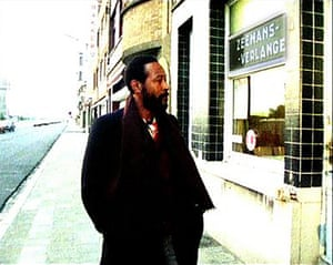 A still from the Richard Oliver film Marvin Gaye: Transit Ostend