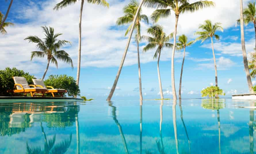 Infinity pool at luxury tropical resort