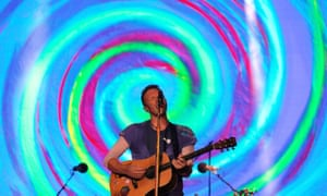 Coldplay's Chris Martin at Glastonbury 2016