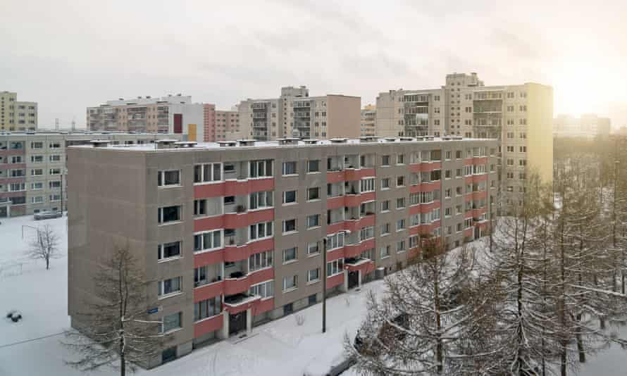Sunset in the Soviet-era Lasnamaë district.