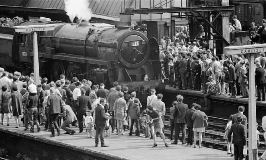 Britain's last steam locomotive passenger service arrives at Carlisle, its final destination on 14 August 1968.