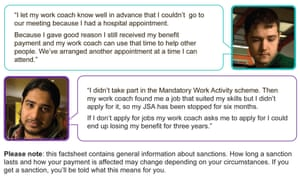 DWP Leaflet - with fake quotes and pix