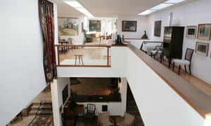 Interior showing period furntiure of Kettle's Yard house and art gallery in Cambridge.