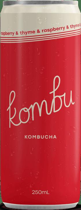 Kombu raspberry and thyme kombucha