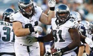 Fletcher Cox, right, is one of the Eagles' most important players
