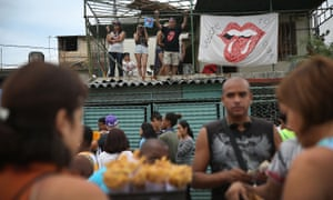 Rolling Stones fans wait for the start of the free concert in Havana.
