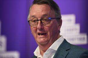 Victorian health minister Martin Foley addresses the media on Sunday.
