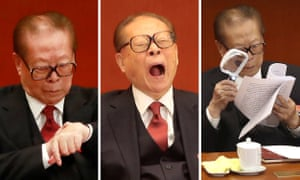 The former Chinese general secretary Jiang Zemin