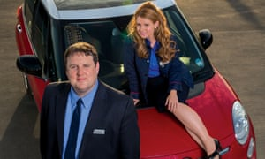 Peter Kay as John and Sian Gibson as Kayleigh in the hit BBC comedy Peter Kay's Car Share.